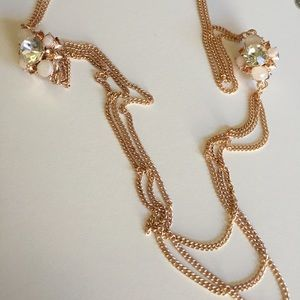 Charter Club Long Crystal Accent Necklace